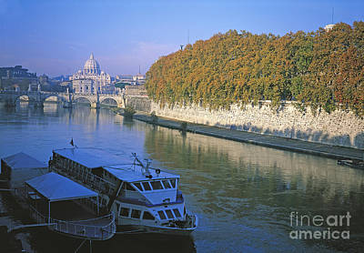 Saint Peters Basilica Photograph - River At Fall, Lazio, City Of Roma by Adam Sylvester