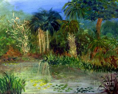 Remodernist Painting - River At Riverbend Park In Jupiter Florida by Donna Walsh