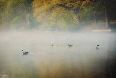 Goose Photograph - River At Sunrise by Everet Regal