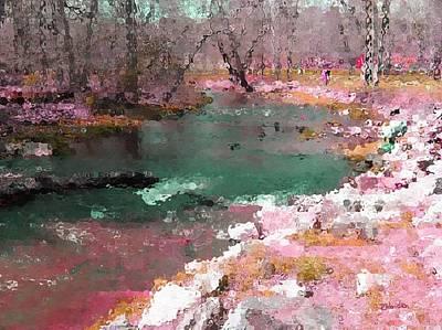 Digital Art - River Bank by Peggy Gabrielson