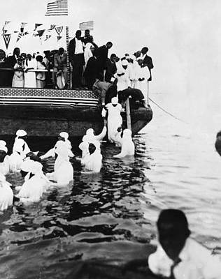 Baptizing Photograph - River Baptism, C1925 by Granger