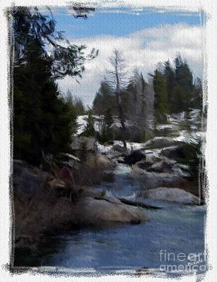 Photograph - River Bend Painting by Bobbee Rickard