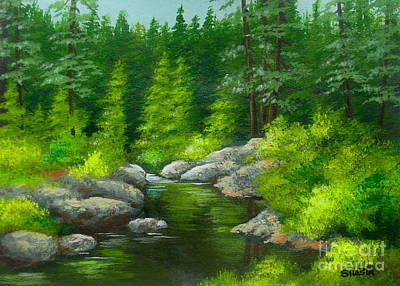 Painting - River  Bend  by Shasta Eone