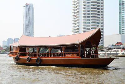 Bangkok Photograph - River Boat Taxi - Bangkok Thailand - 01131 by DC Photographer
