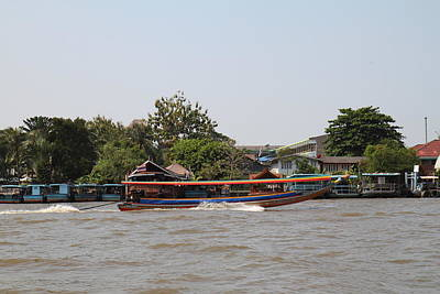 Taxi Photograph - River Boat Taxi - Bangkok Thailand - 01137 by DC Photographer