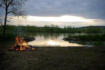 Photograph - River Bonfire by Elizabeth King