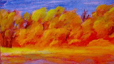 Pastel - River Bottoms In Autumn by Steve Jorde