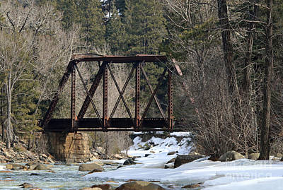 Photograph - River Bridge In Winter II by Mary Haber