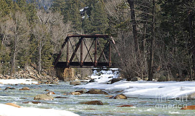 Photograph - River Bridge In Winter by Mary Haber