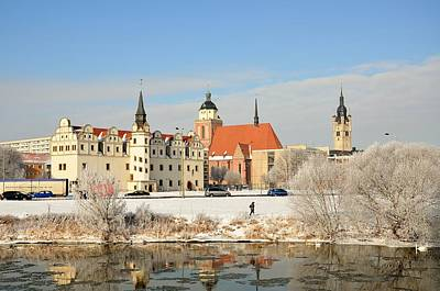 River / Castle / Winter / Frost In Dessau - Germany Original by Gynt