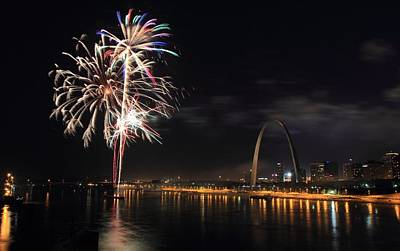 Photograph - River City Fireworks by Scott Rackers