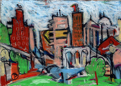 Painting - River City I by Todd  Peterson