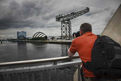 Photograph - River Clyde Glasgow Scotland by Alex Saunders