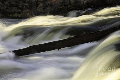 River Contours Art Print