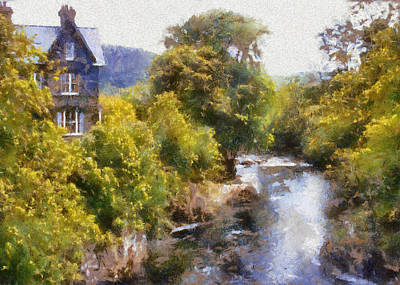 Outerspace Patenets Royalty Free Images - River Conwy at Betws-y-Coed Royalty-Free Image by Charmaine Zoe