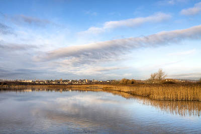 Photograph - River Corrib Galway Landscape by Mark Tisdale