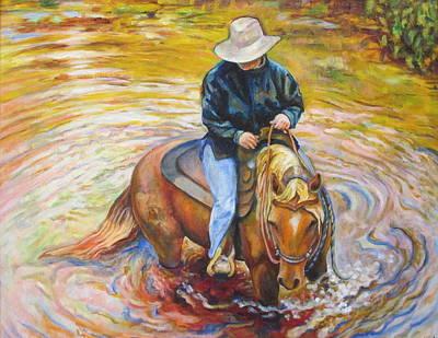 River Crossing Original by Karen McKean