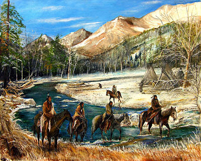 Patrick Painting - River Crossing by Patrick Rahming