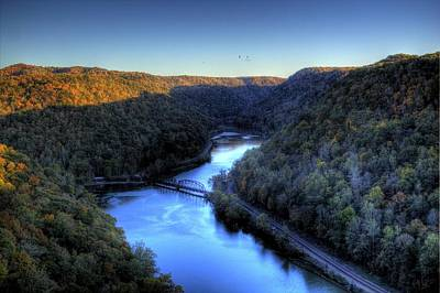 Art Print featuring the photograph River Cut Through The Valley by Jonny D