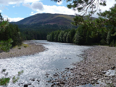 Photograph - River Dee Near Braemar - Scotland by Phil Banks
