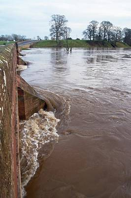Flood Wall Art - Photograph - River Eden Flooding. by Mark Williamson