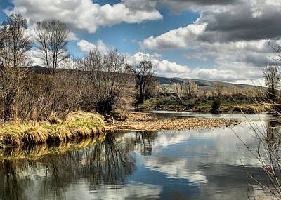 Photograph - Weber River by Ely Arsha