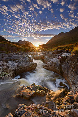 Glen Etive Photograph - River Etive by Rod McLean