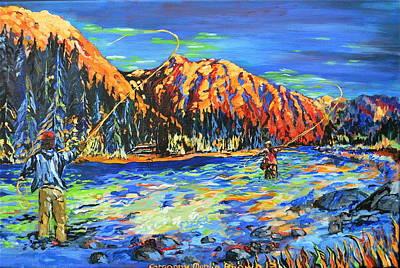 River Fisherman Art Print