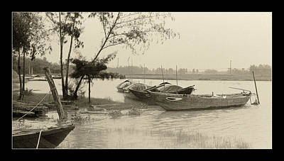Photograph - River Fishing Boats In Hoi An by Weston Westmoreland