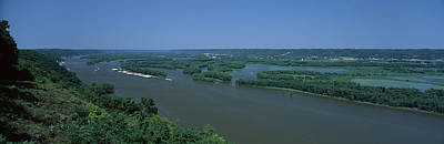 Mississippi River Scene Photograph - River Flowing Through A Landscape by Panoramic Images