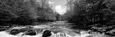 River Flowing Through Rocks Art Print