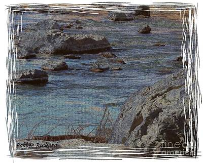 River Flows Art Print by Bobbee Rickard