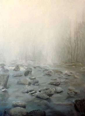 River Fog Art Print