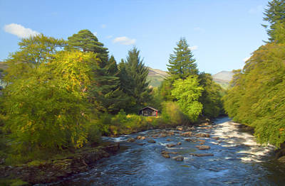 Land Scape Digital Art - River Forth Scotland by Clive Eariss
