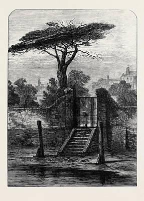 River Gate Botanic Garden Chelsea 1873 Art Print by English School