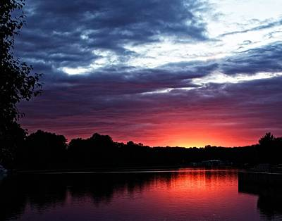 Art Print featuring the photograph River Glow by Dave Files