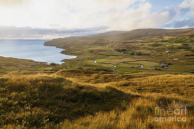 Aeriel View Photograph - River Hamara And Loch Pooltiel by Diane Macdonald