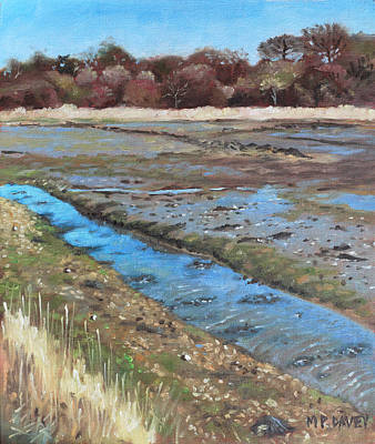 Painting - River Hamble Lagoon Hampshire by Martin Davey