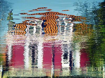 Art Print featuring the photograph River House by Luc Van de Steeg