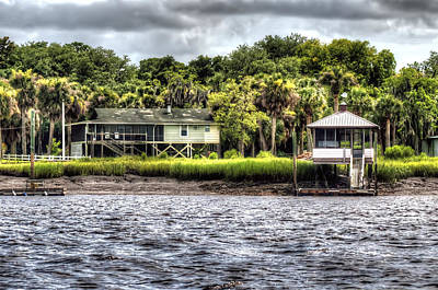 Palmetto Tree Photograph - River House On Wimbee Creek by Scott Hansen