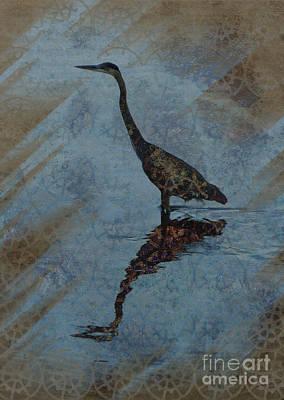 Heron Digital Art - River Hunter by Robert Ball