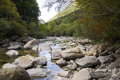 river in Ainsa Art Print