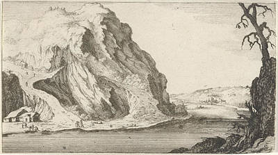 Mountain View Drawing - River In The Mountains, Gillis Van Scheyndel by Gillis Van Scheyndel (i) And Frederik De Wit