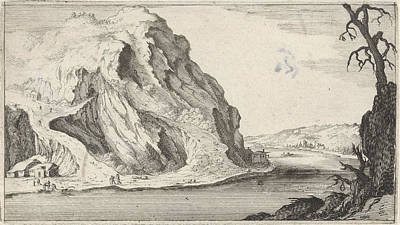 Mountain View Drawing - River In The Mountains, Gillis Van Scheyndel by Gillis Van Scheyndel (i)