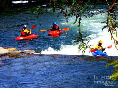 Photograph - River Kayaking II by Bobbee Rickard