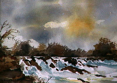 Mayo Painting - River Moy Nr Foxford  Mayo by Val Byrne