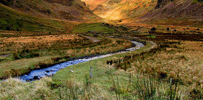 River Near Annascaul Lake In Kerry Art Print