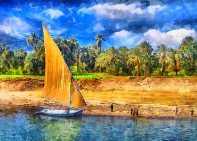 Rossidis Painting - River Nile by George Rossidis