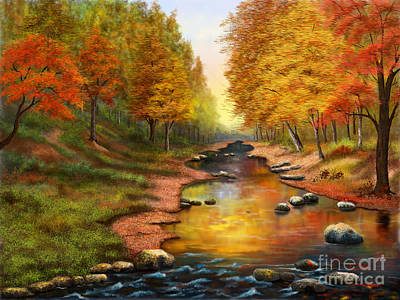 Painting - River Of Colors by Sena Wilson