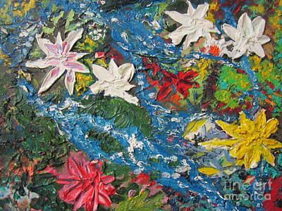 Painting - River Of Flowers  by Max Lines